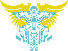 Wall Mural - masterfitness-flying-biker