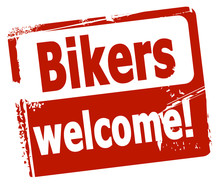 Wall Mural - Bikers welcome!