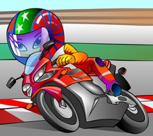 Wall Mural - racing motorcyclist